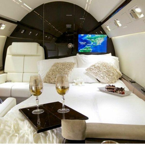 Le jet priv de luxe en 50 photos jet priv bord et - Jet prive de luxe interieur ...