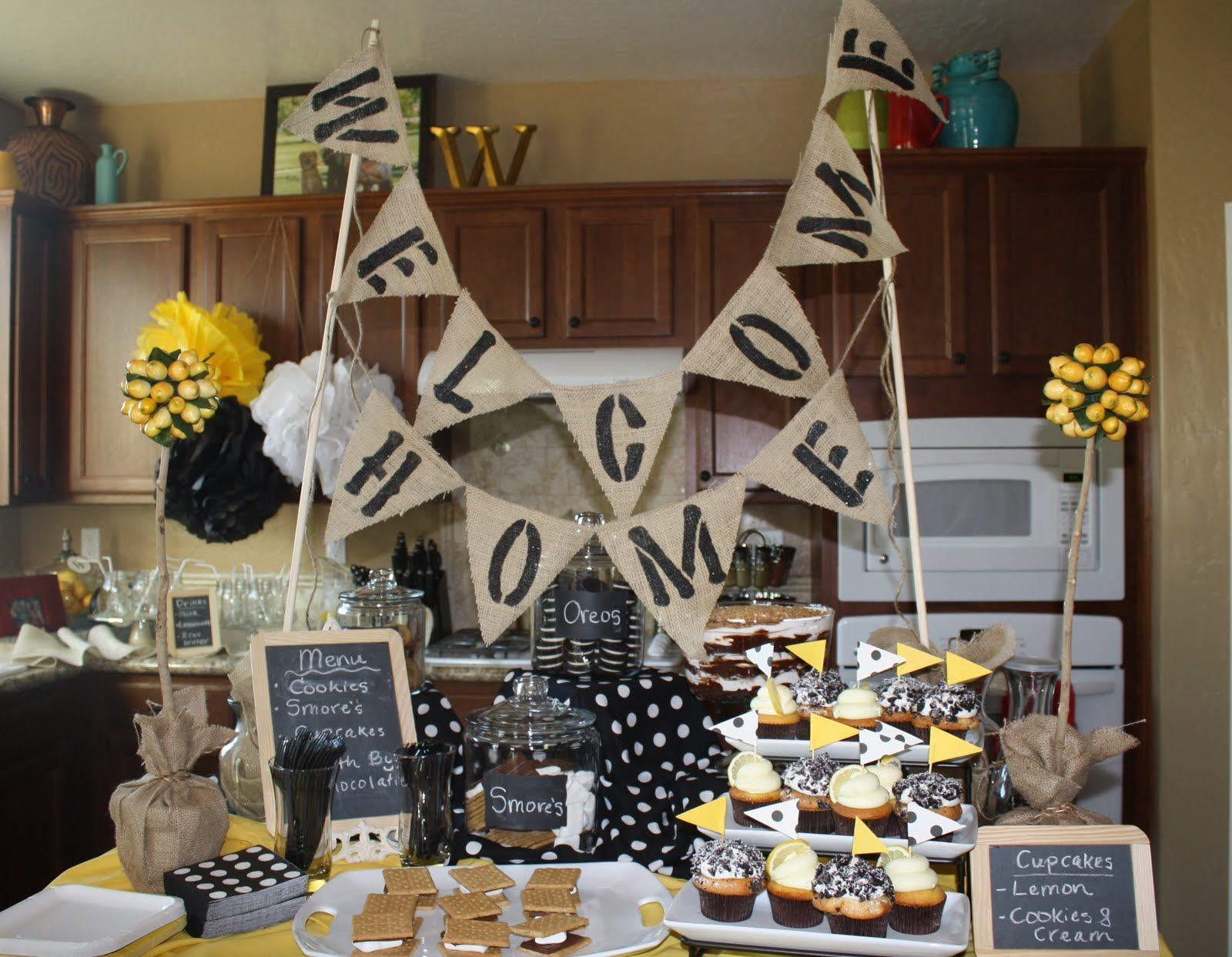 Welcome home party ideas how sweet it is also great parties rh in pinterest