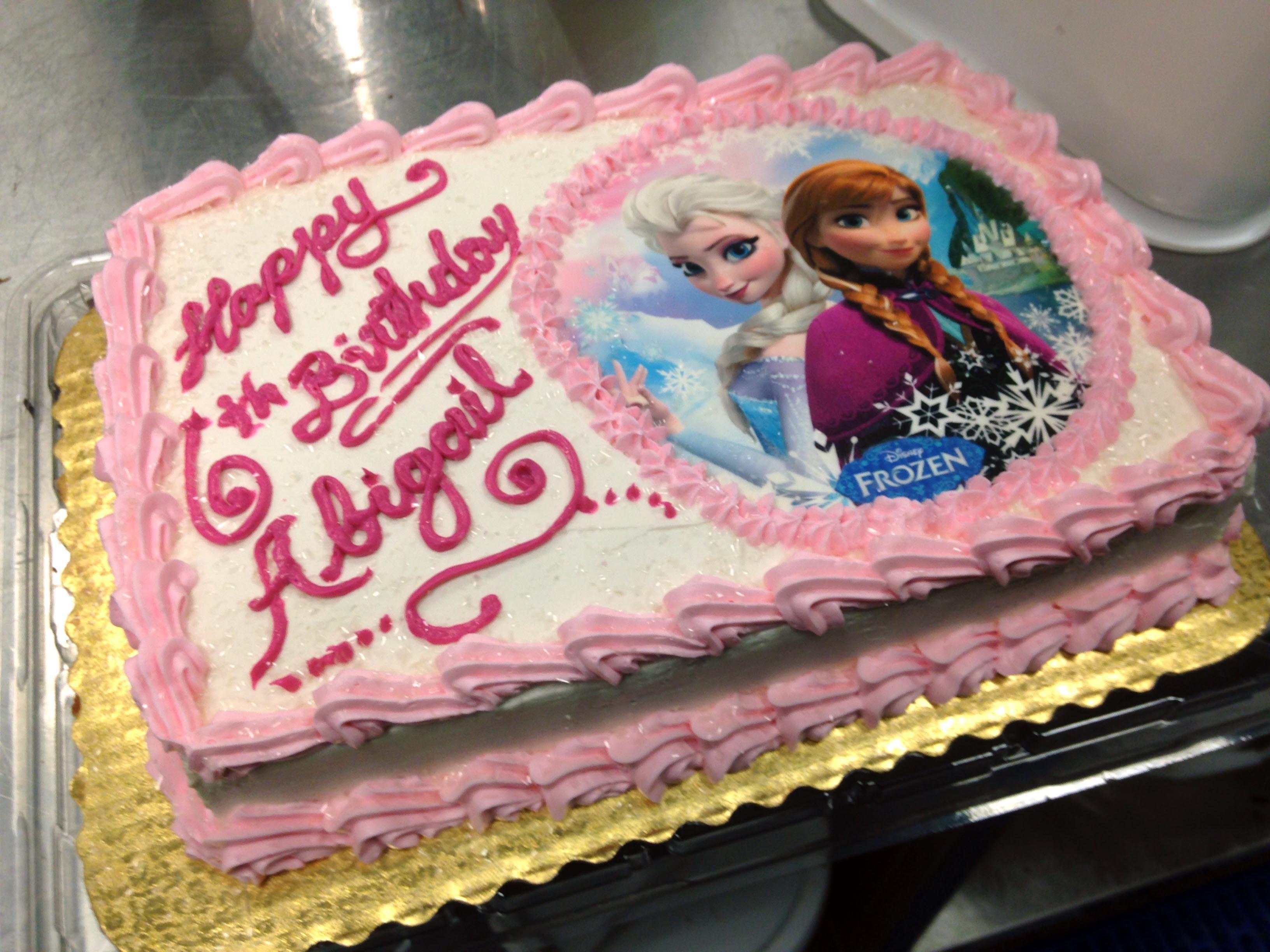 Frozen Birthday Sheet Cake Google Search Birthday Sheet Cakes Bakery Cakes Birthday Cake Bakery