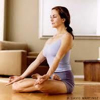 Calms the brain      Stimulates the pelvis, spine, abdomen, and bladder      Stretches the ankles and knees      Eases menstrual discomfort and sciatica      Consistent practice of this pose until late into pregnancy is said to help ease childbirth.      Traditional texts say that Padmasana destroys all disease and awakens kundalini.