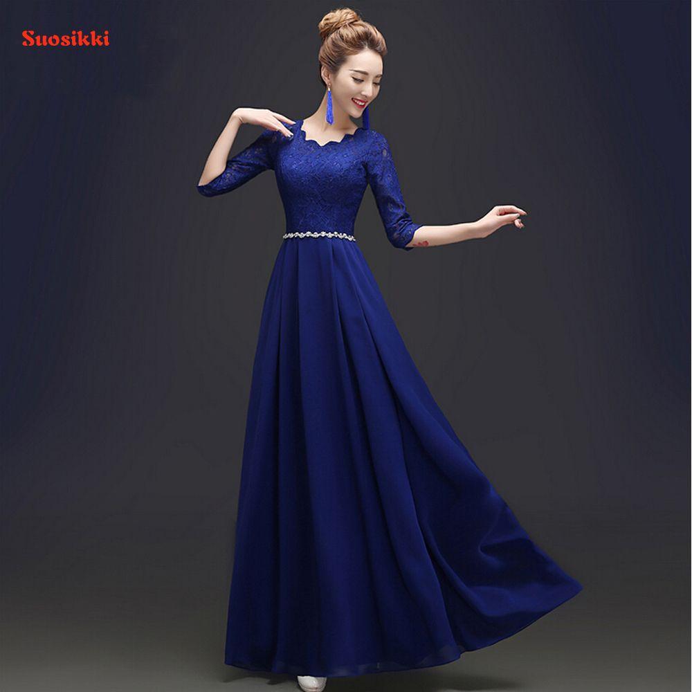 2017 Custom Made Elegant Black Winter Evening Dresses Lace Half ...