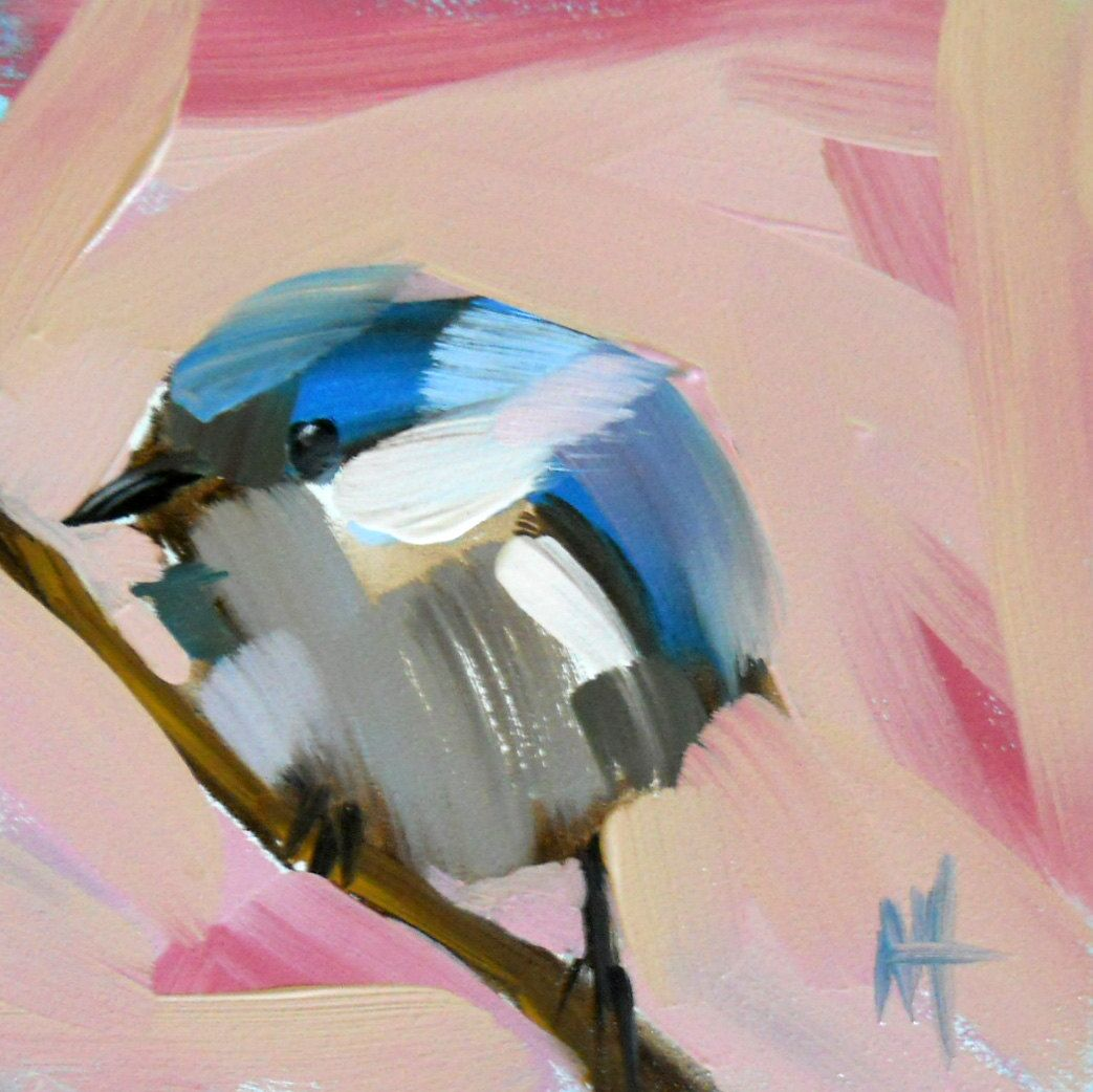 Cerulean Warbler No. 15 (Angela Moulton) #Art #EMAzing #Painting