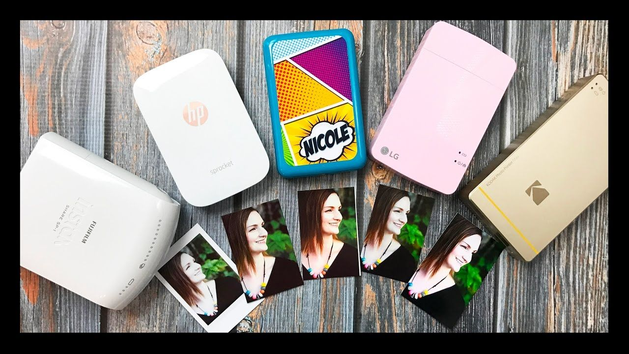 4ec1ac37e72c Mini Photo Printer Comparison | LG Pocket, Polaroid Zip, Kodak Mini Printer,  Fujifilm, HP - YouTube