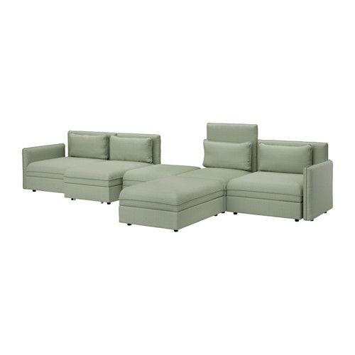 VALLENTUNA 5-seat sofa with bed Hillared green IKEA