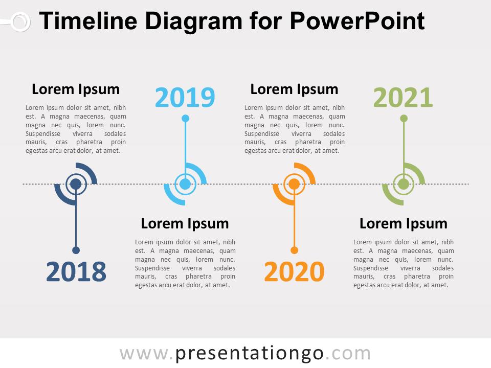 timeline diagram for powerpoint presentationgo com infographic design