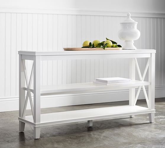 Cassie Console Table Sky White At Pottery Barn