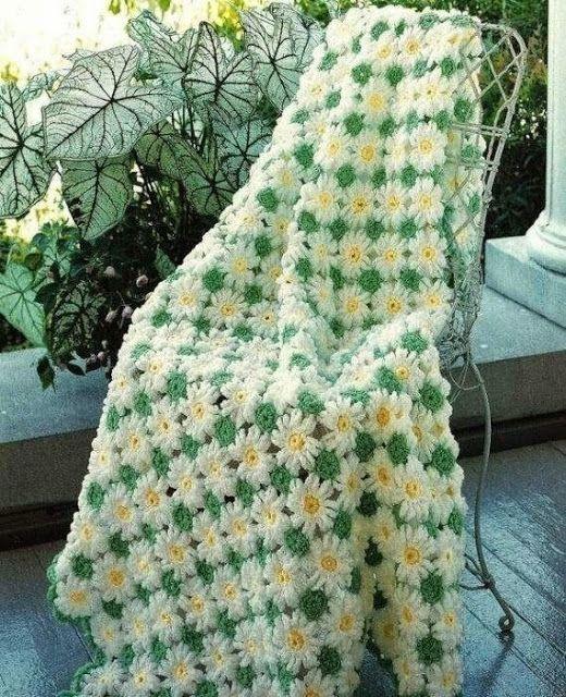Crochet Designs And Free Patterns Blanket Crochet Flowers Happy