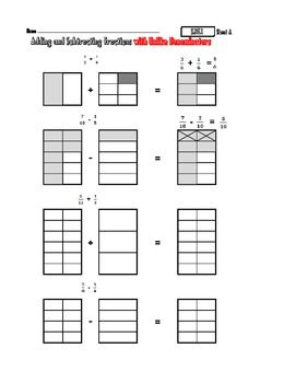 5.NF.1 Add & Subtract Fractions with Visual Pictures | Math Ideas ...