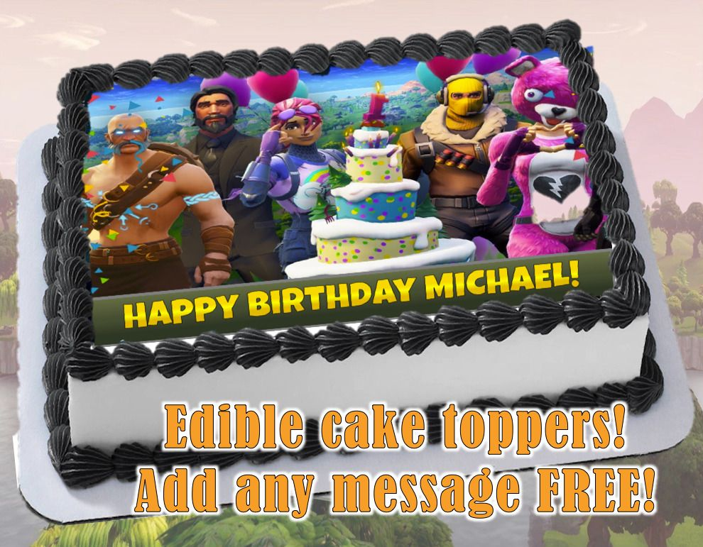 Pleasant Fortnite Edible Birthday Cake Topper Personalized Item Premium Funny Birthday Cards Online Sheoxdamsfinfo
