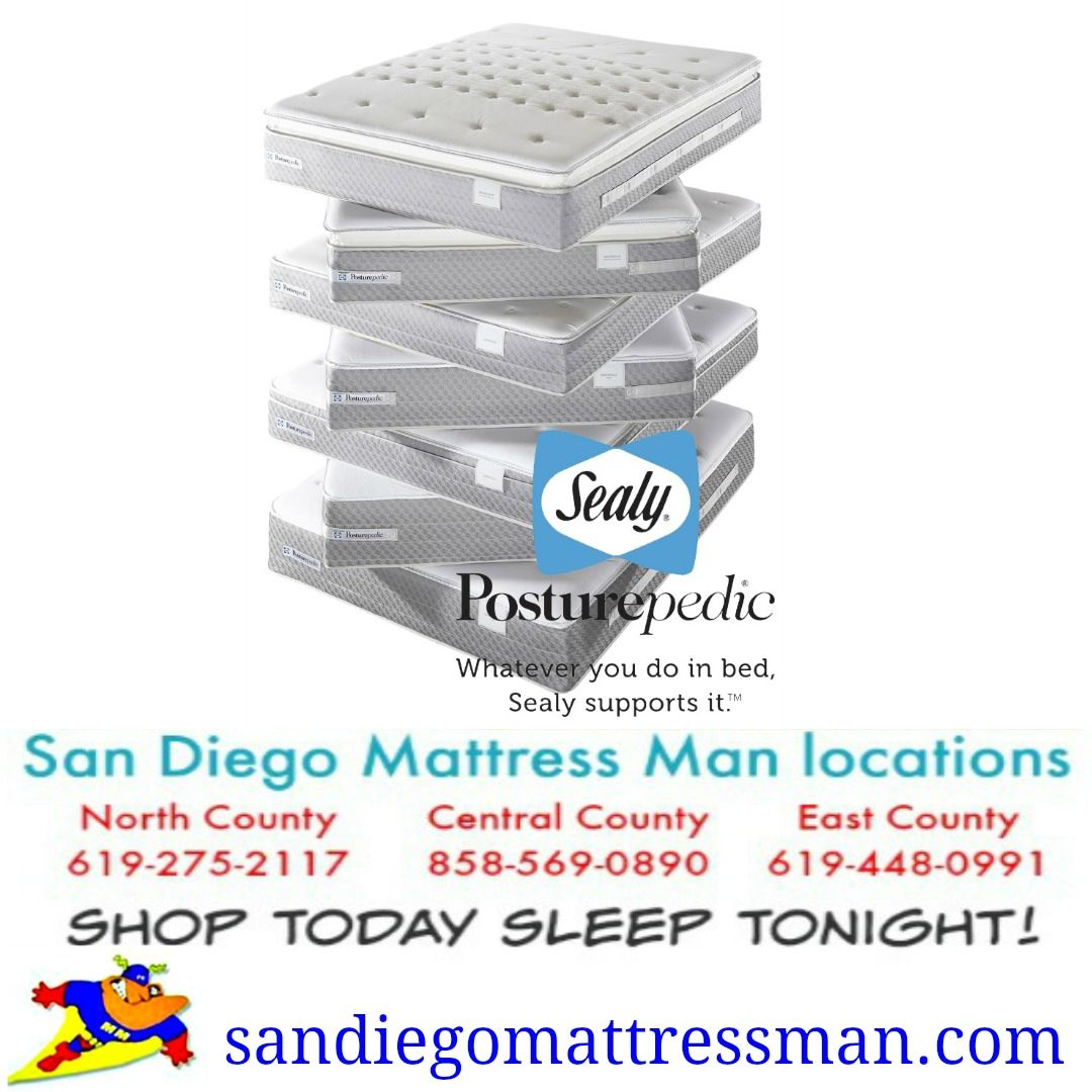 Sealy Mattress Clearance Sale Sandiegomattressman Com Sealy Mattress Sale San Diego Mattress Store Location Mattress Sales Sealy Mattresses Mattress Delivery