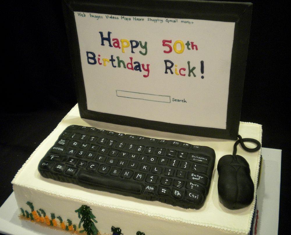 Tarta Ordenador http://thecakediva.biz/cake-dive-birthday ...