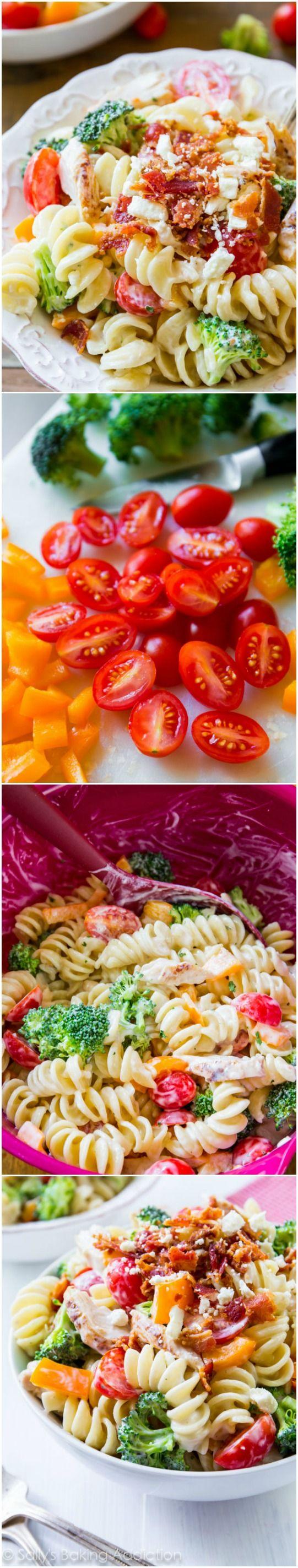 Creamy Chicken Pasta Salad   comidas y bebidas   Pinterest ...