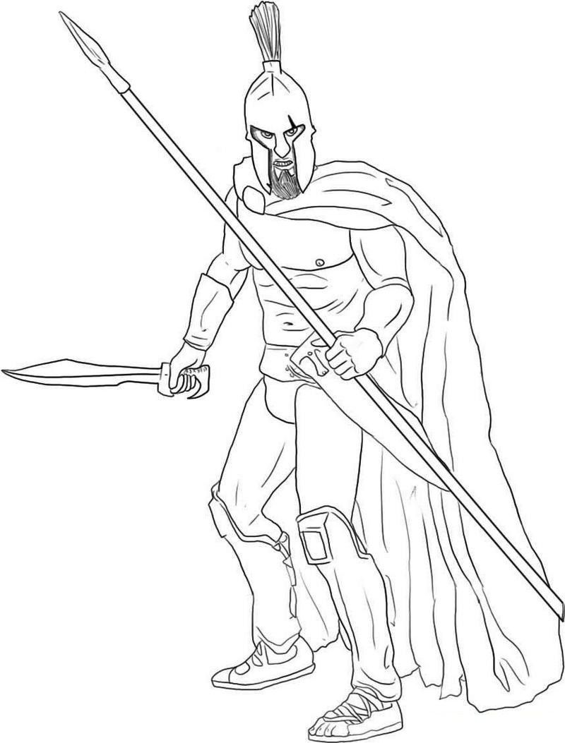 Sparta Ancient Rome Coloring Sheet | army coloring and activity page ...