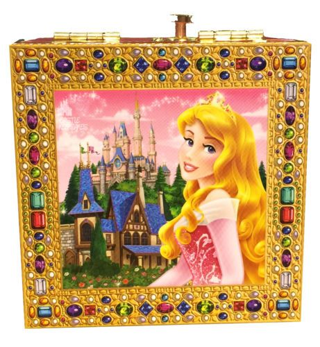 Disney Parks Princess Aurora Sleeping Beauty Jewelry Music Box New