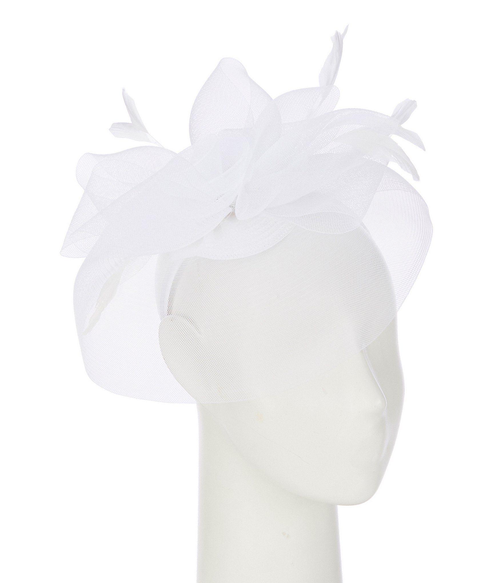 Edgehill Collection Little Girls George Fascinator Headband - White