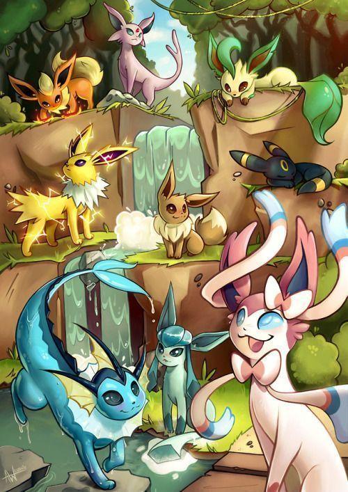 Eevee Is A Kind Of Pokemon On Nintendo And The Game Fre Art Auf Dem Eevee Pokemon Pokemon Zeichnen Niedliche Pokemon