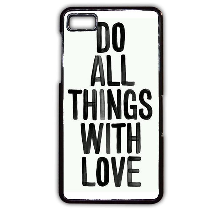 Do All Things With Love TATUM-3486 Blackberry Phonecase