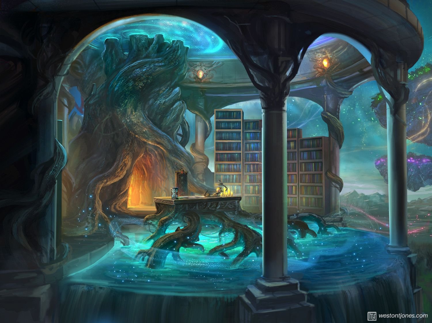 Headmistress Office By Weston T Jones Fantasy Background Fantasy Landscape Fantasy Places
