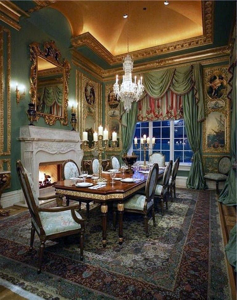 Super Creative Green Victorian Dining Room Just On Omah Home Design Dining Room Victorian Gothic Interior Gothic House