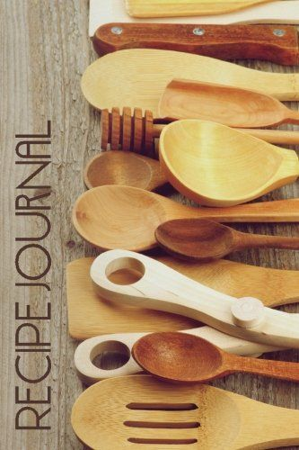 Recipe Journal Retro Rustic Wooden Spoons Cooking Journal Lined and - recipe journals