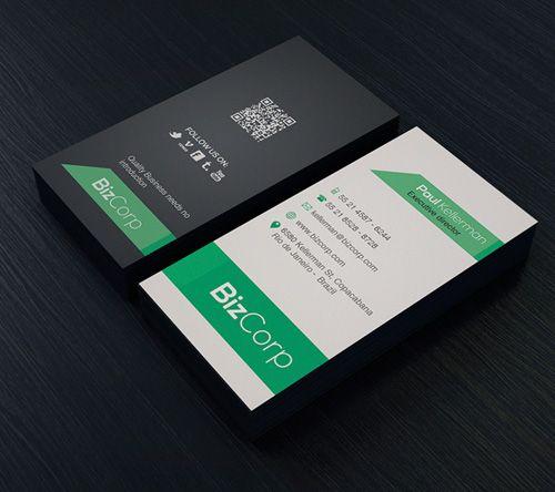 Minimal Business Card #businesscards #psdtemplates #printready