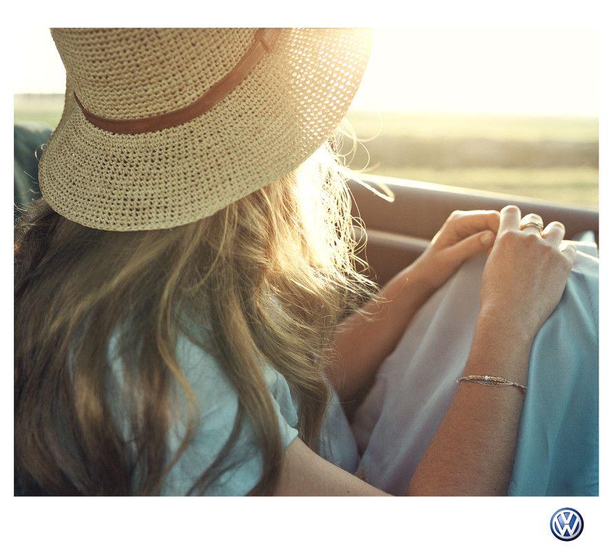 Sophie Ebrard.  Wyatt Clarke Jones.  Lifestyle.  AOP 2016.  VW.  Sunlight.  Sunset.  Car.