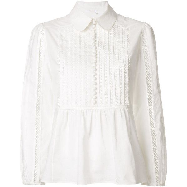 prairie blouse - White Chloé Footlocker Pictures Buy Cheap Fake Clearance 2018 Newest In China Free Shipping 2018 5HwQ9H3D