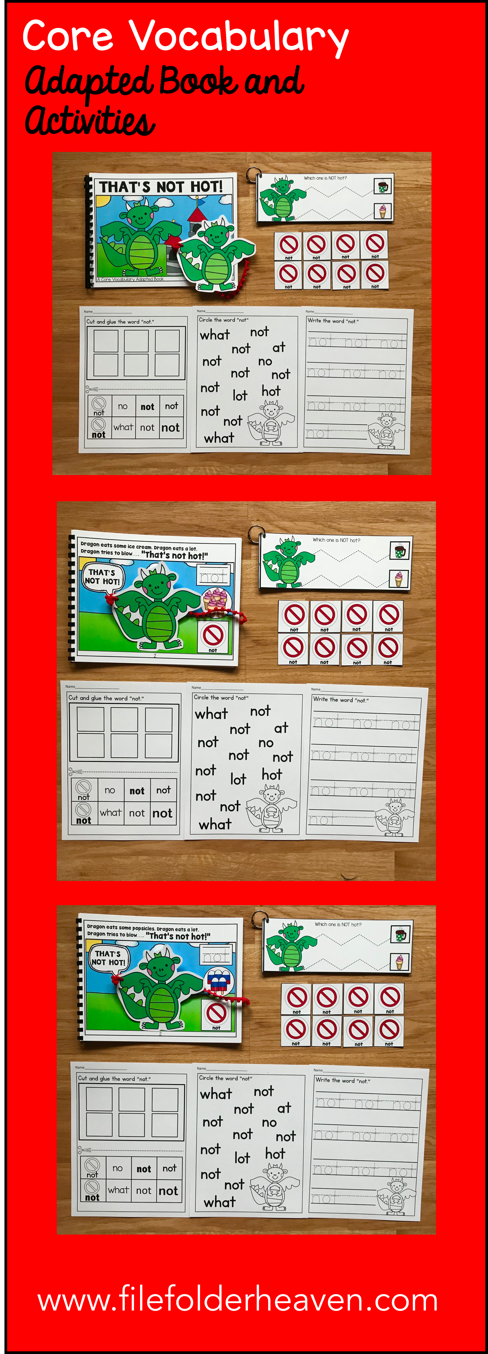 This Core Vocabulary Adapted Book That S Not Hot Is A