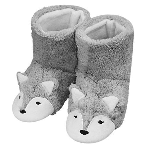 65cd7fa8d6c ... Soft Fuzzy Slip-on Slipper Booties Non-slip Rubber Sole Cozy Plush  Mules Home Bedroom Slide Shoes Ankle Boots Thermal House Slippers Gift.  Please check ...