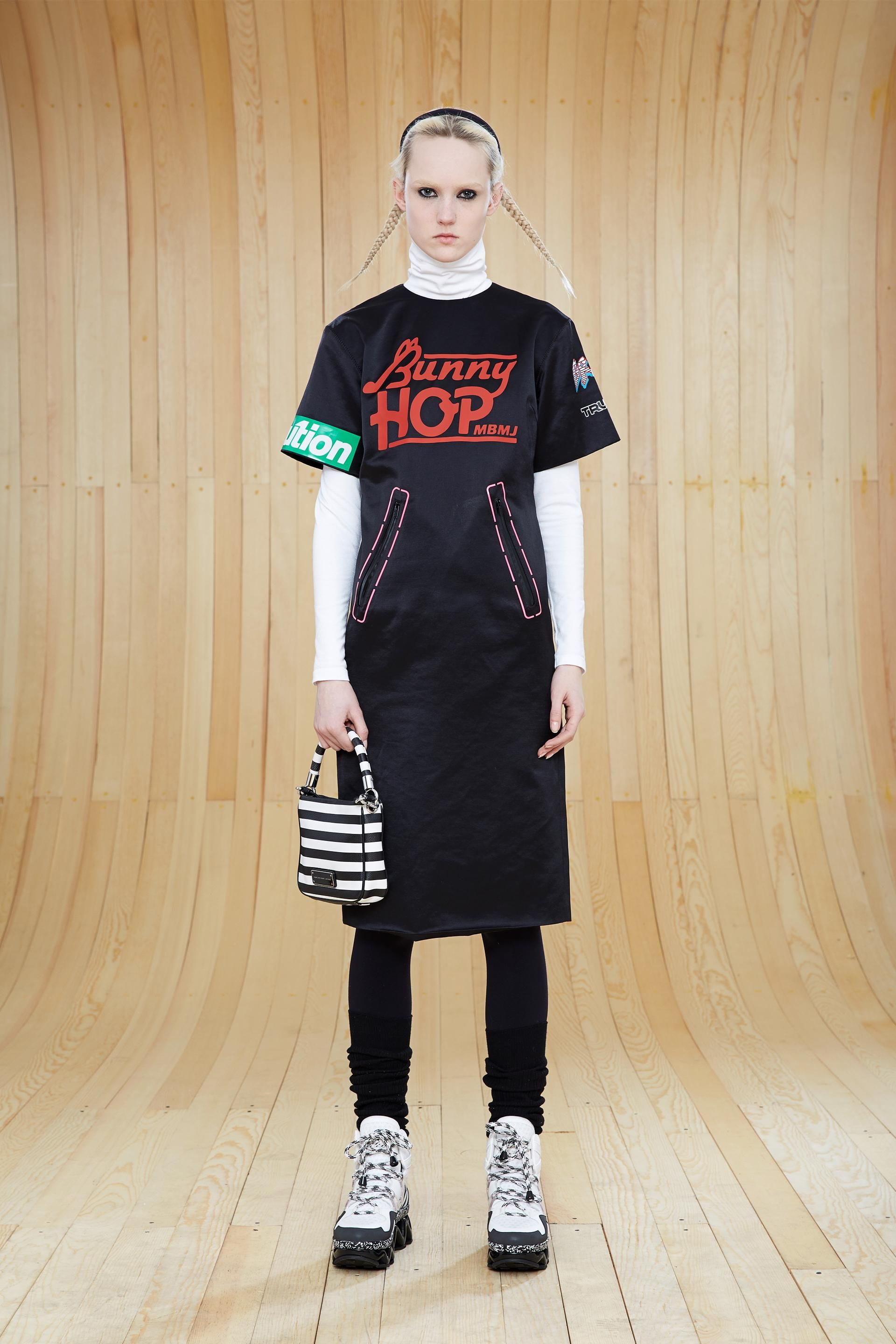 Marc by marc jacobs transfer satin bmx tshirt dress in black cps