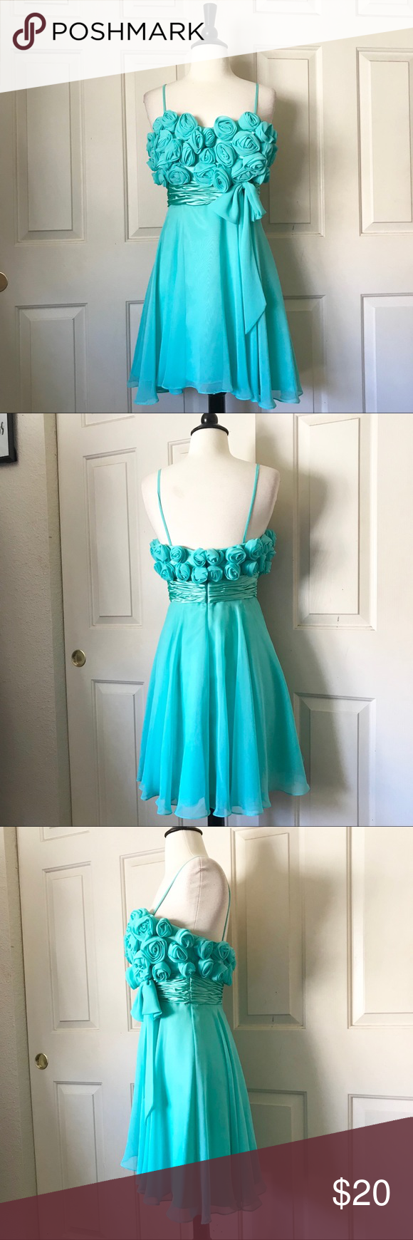 Preowned Terani Teal Party Dress Size 4 | Teal party, Terani couture ...