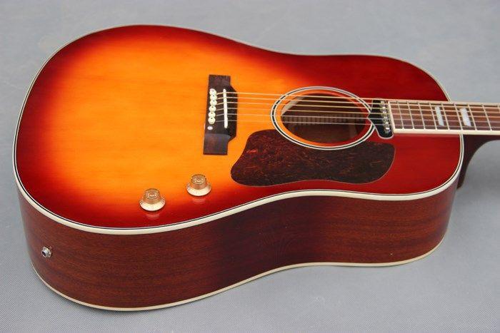2017 New Factory Chibson J160e Vintage Vs Acoustic Guitar John Lennon Sunburst J160 Acoustic Guitar With Sound Hole Pickup Acoustic Guitar Guitar Acoustic