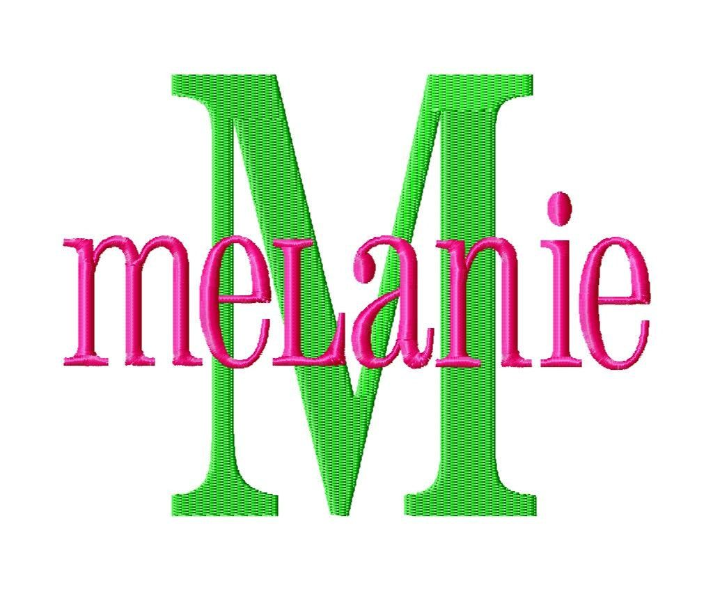 Melanie machine embroidery font sizes quot buy