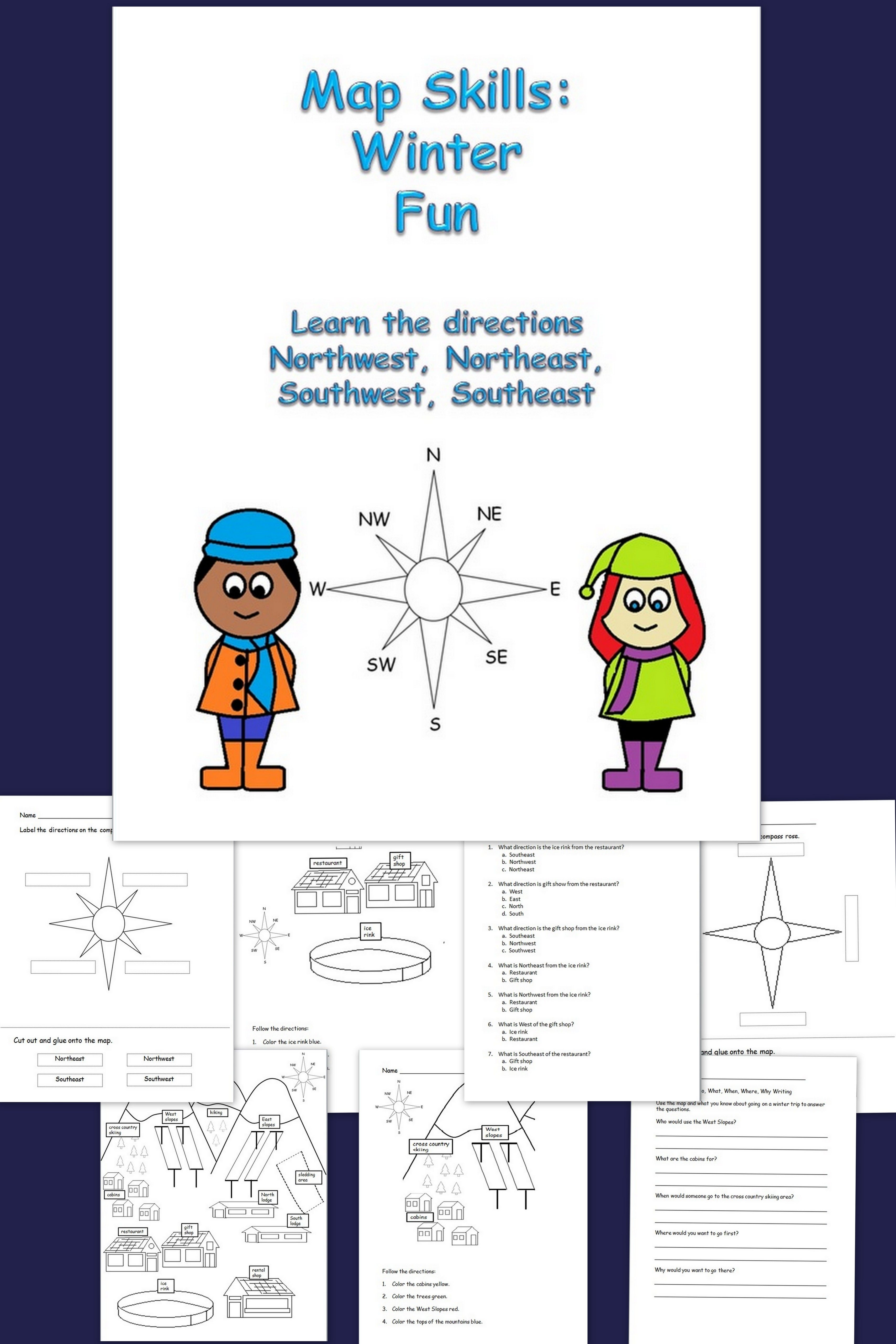 Map Skills Winter Fun