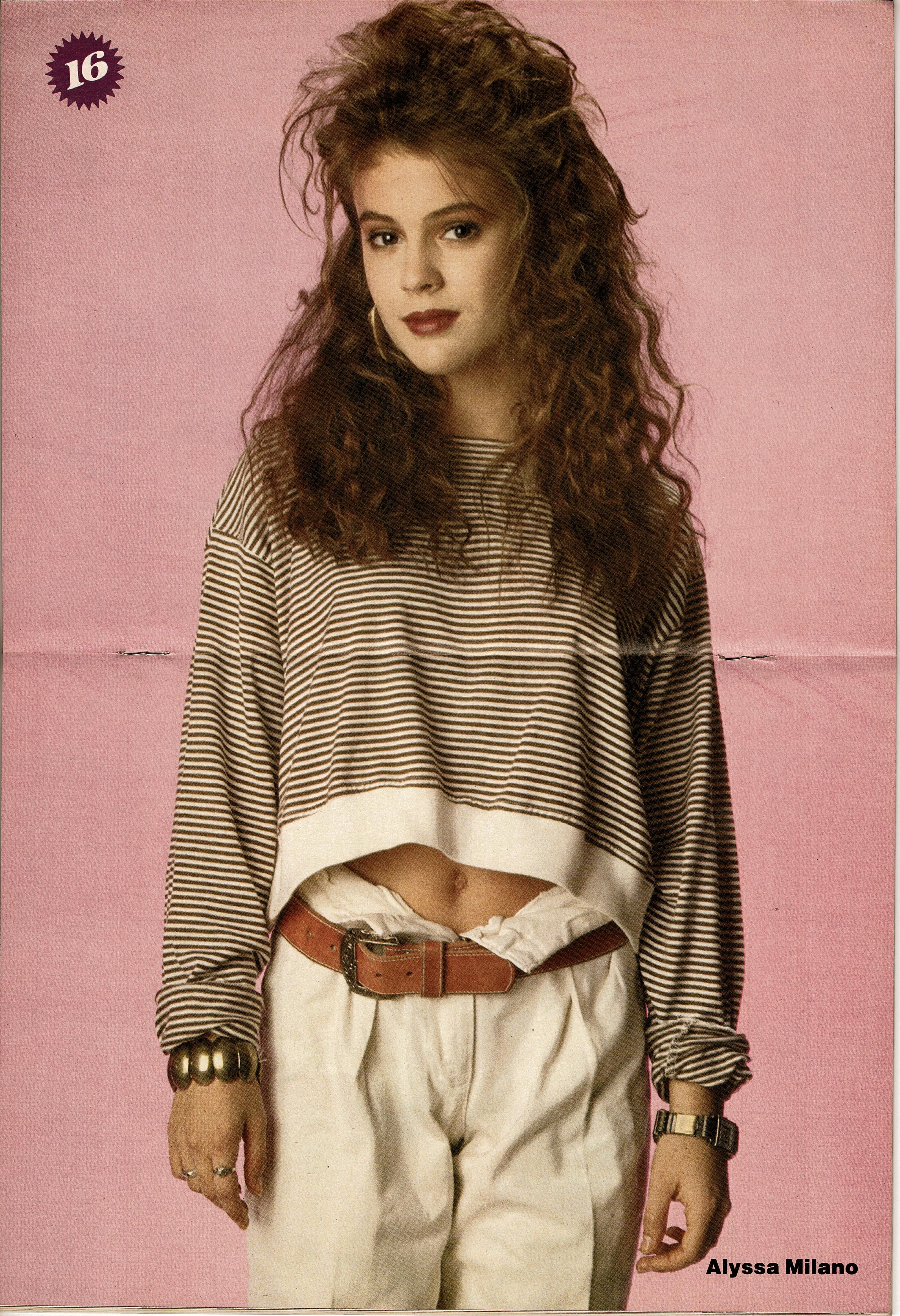 Alyssa Milano Looking Chic In A Centerfold Pinup From The May 1989