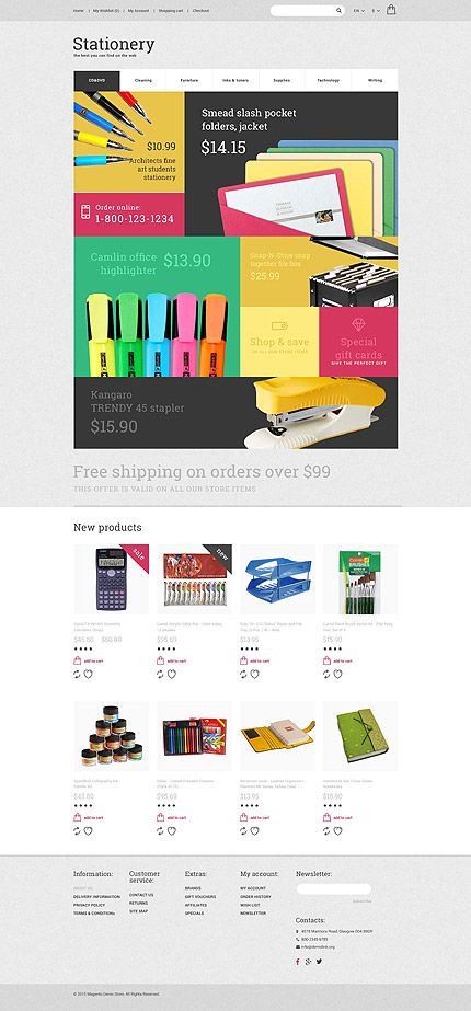 Stationery Online Opencart Webtemplate Themes Business Responsive Template