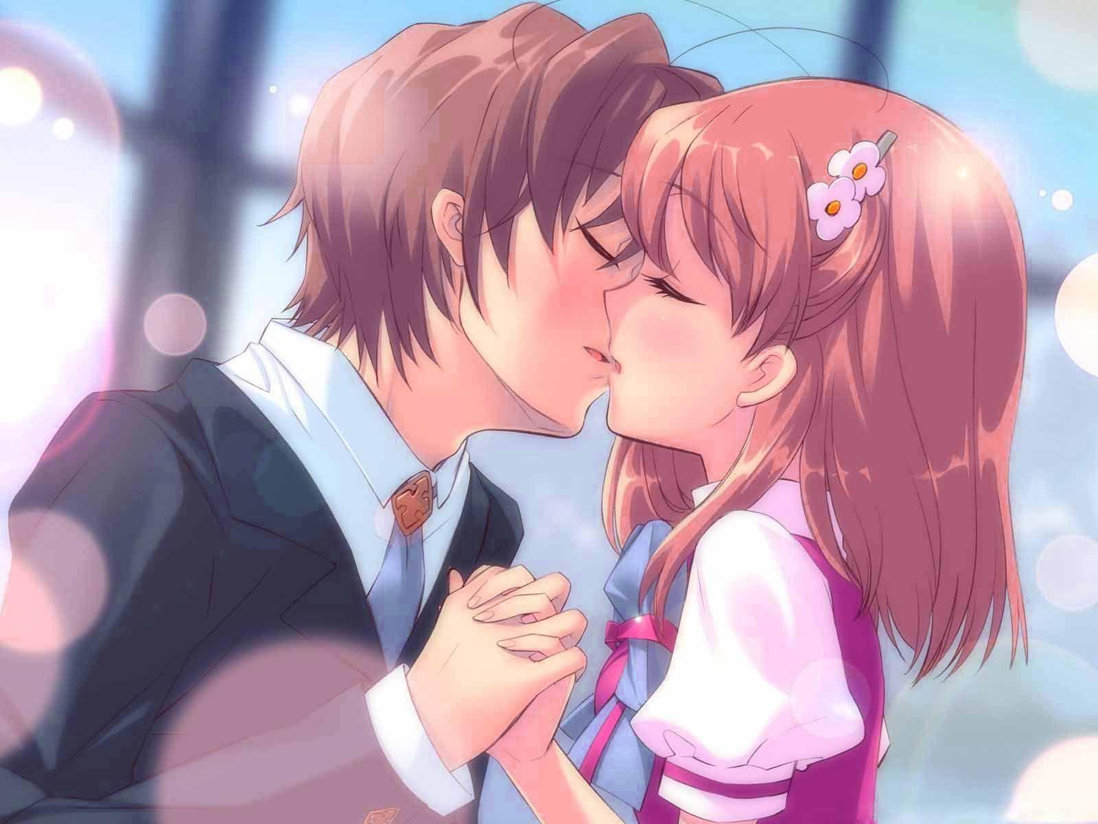Happy Kiss Day Animated Wallpaper Manga Love Anime Kiss