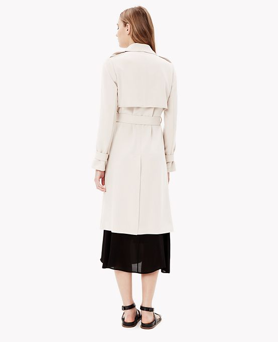 Crepe Open Trench Coat | Theory