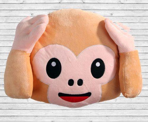 Cool HearNoEvil Monkey Emoji Pillow Emoji Pillows Pinterest Impressive Monkey Covering Eyes Emoji Pillow