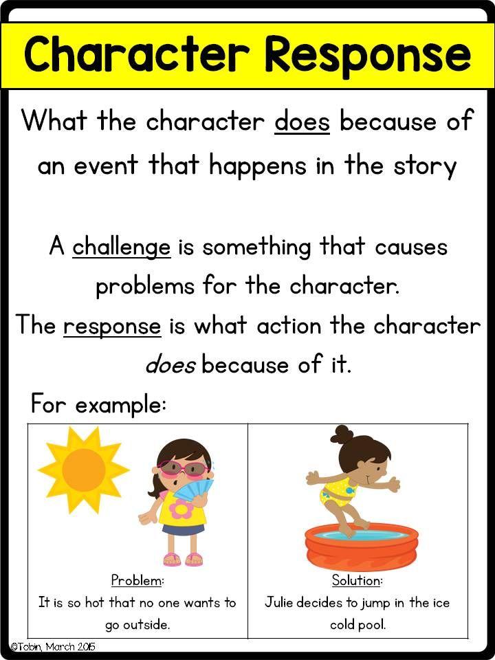 Character Response Rl  Anchor Charts Chart And Characters