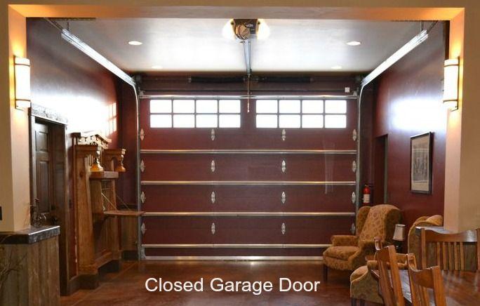 Closed Garage Door · Living Room .