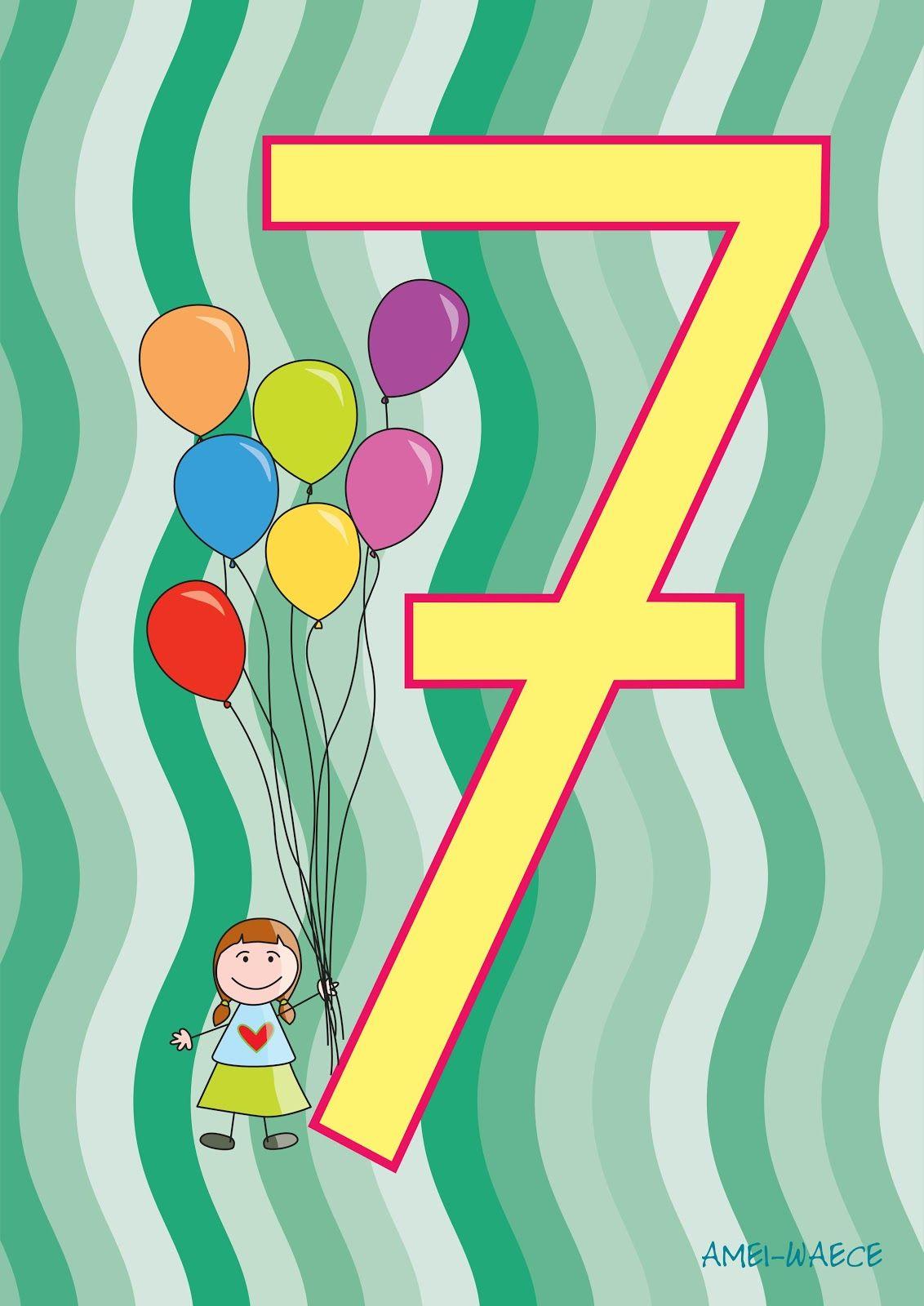 La versión en colores de las láminas con los números. Listas para ...