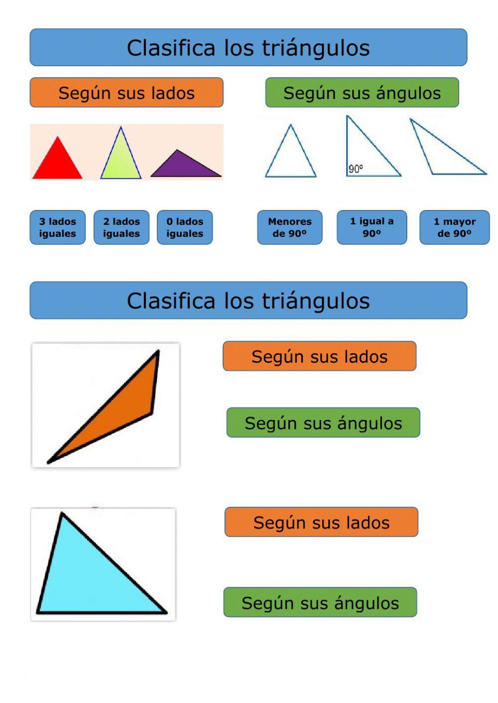 Clasificación De Triángulos Ficha Interactiva Clasificacion De Triangulos Fichas Paralelas Y Perpendiculares