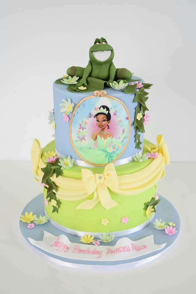 Princess And The Frog Cake With Images Frog Cakes Tiana