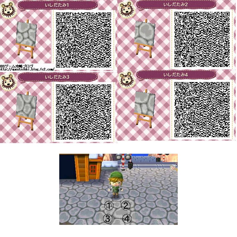 Animal crossing new leaf stone floor animal crossing new for Acnl boden qr codes