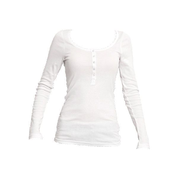 ALEX Langes Longsleeve in Weiß (79 BRL) ❤ liked on Polyvore featuring tops, shirts, blusas, long sleeves, long-sleeve shirt, white top, long sleeve tops, white shirt and long sleeve shirts