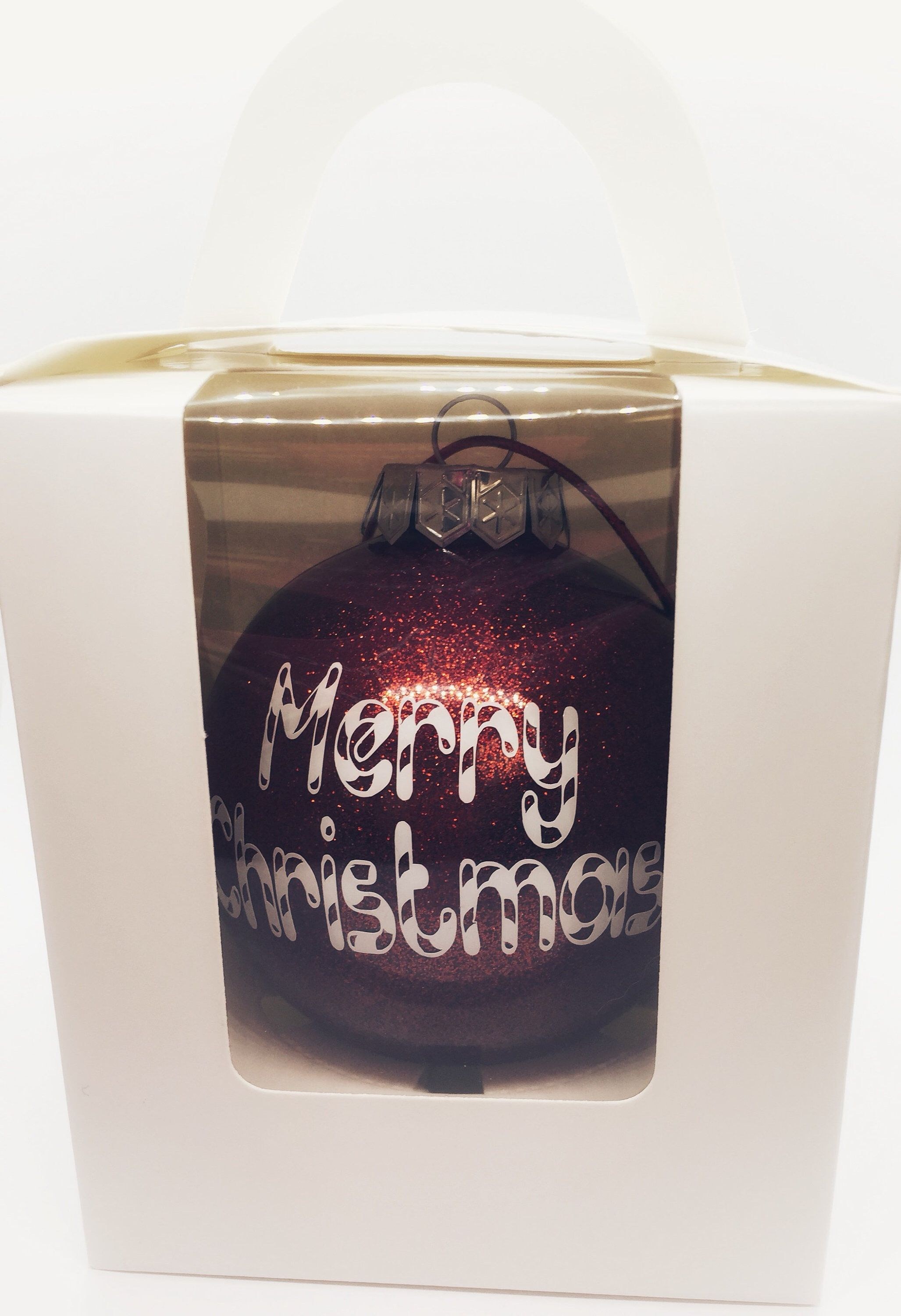 Merry Christmas Large Christmas Glitter Bauble In Gift Box In 5 Colours Buy It Now Merrychristmas Gifts Glitter Christmas Christmas Decorations For The Home