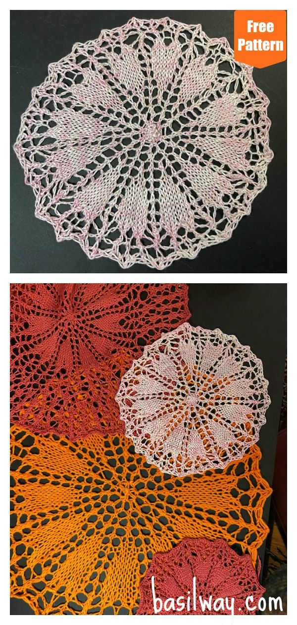 Heart Doily Free Knitting Pattern in 2020 | Free knitting ...