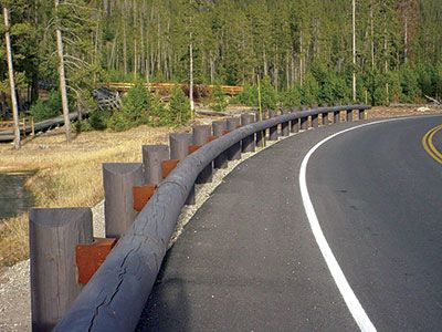 A recent collaboration involved steel-backed timber guardrail, shown