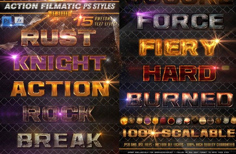 + New Photoshop Text Styles For Free Download (Updated ...